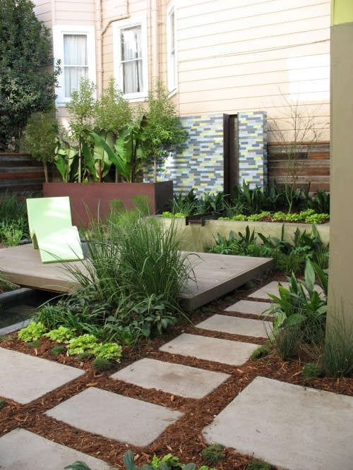 37 best images about under deck ideas on pinterest for Square front yard landscaping ideas