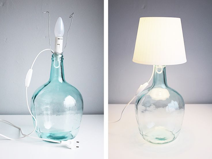 DIY: Make your own bottle lamp - Fabulous Finnish