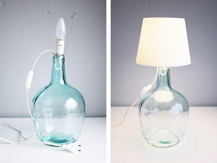 DIY: Make your own bottle lamp - Fabulous Finnish