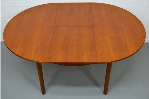 Mid Century Round Extendable Teak Table By Mcintosh | Vinterior London  #round #extendable #teak #table