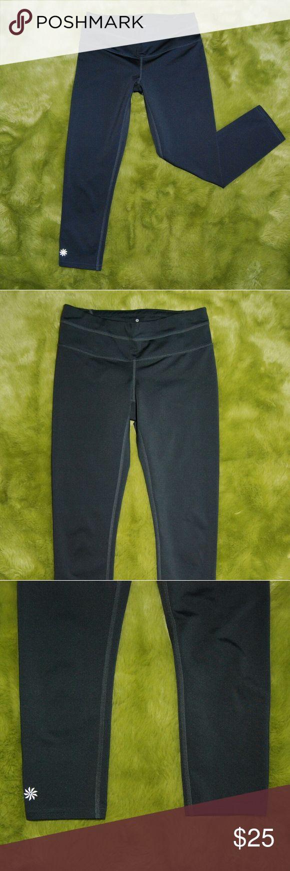 """Athleta Gray Athletic Capri Yoga Pants XS Excellent condition Length 27"""" Waist 12.5"""" Rise 6.5"""" Athleta Pants Capris"""