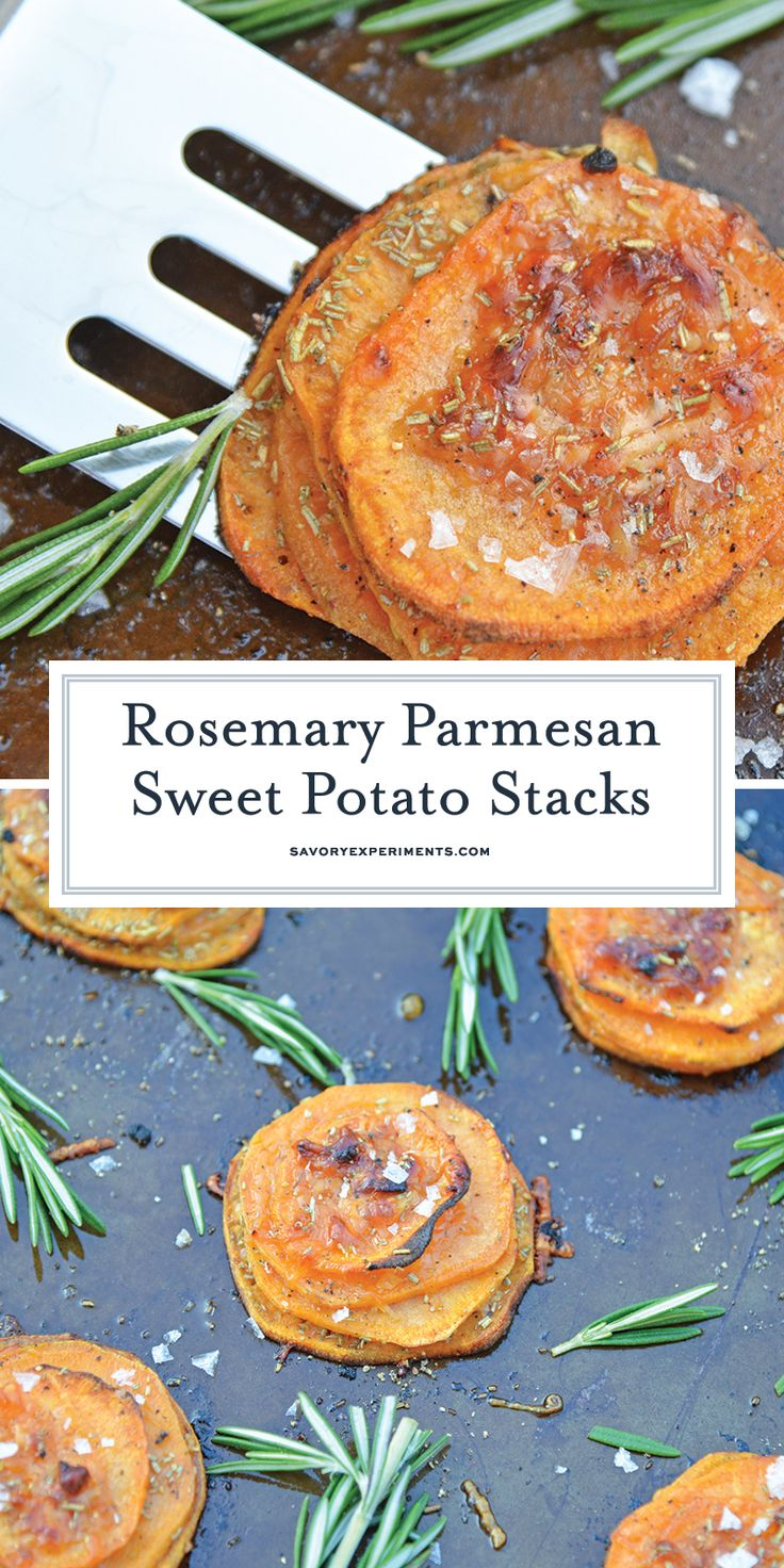 Rosemary Sweet Potato Stacks are a simple and visu…