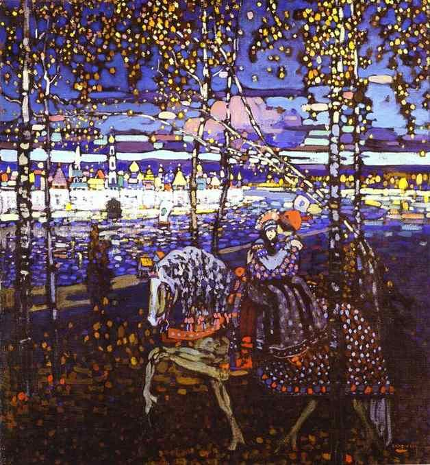 """""""kandinsky - riding couple    dear wassily, i love you"""" I wouldn't go that far but I do like this a lot."""