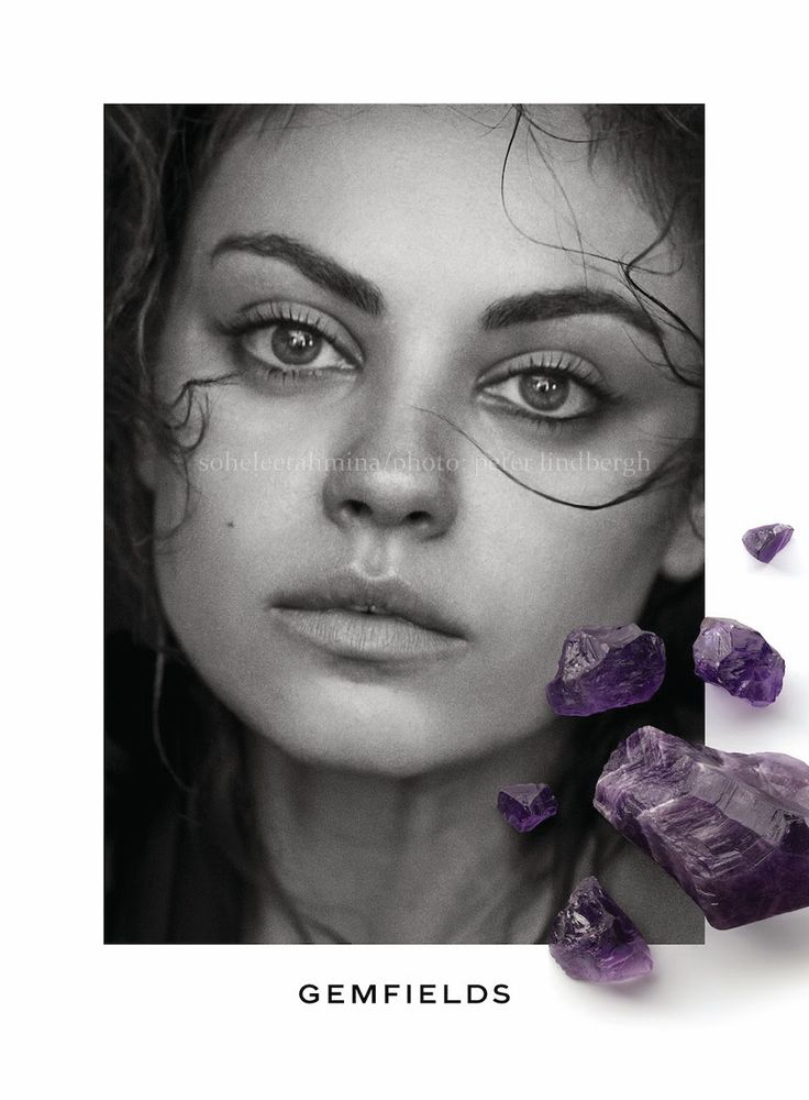 Strong Brows + Highlights on Face | Mila Kunis- Gemfields Spring Summer 2014 Campaign- Sohelee1
