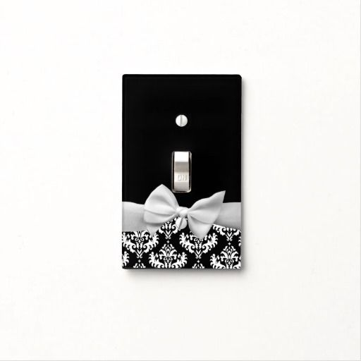 45 best paying attention to the details images on pinterest black and white damask with ribbon bow graphic light switch cover via zazzle sciox Gallery