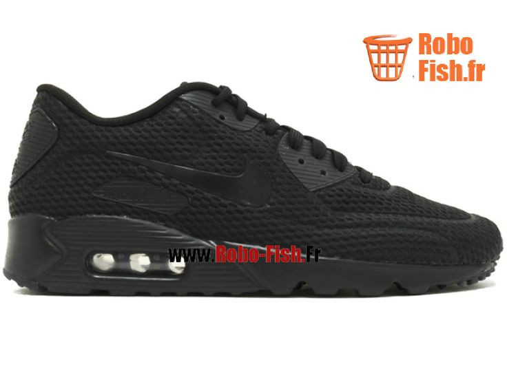outlet store 01346 fb480 ... Nike Air Max 90 Ultra Br - Chaussure Nike Running Pas Cher Pour Homme  Noir 725222 ...