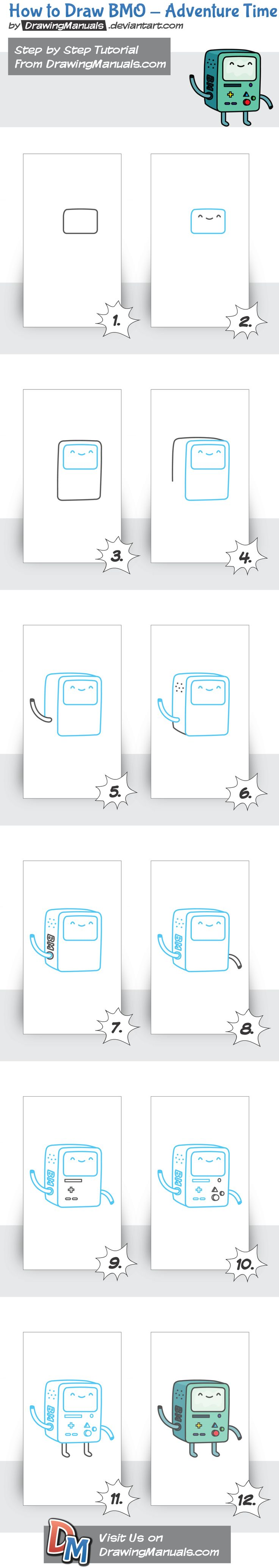 BMO - Adventure Time detailed step by step tutorial