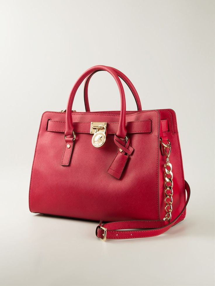 Red leather 'Hamilton' tote bag from Michael Michael Kors.
