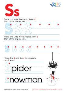 Letter S worksheets