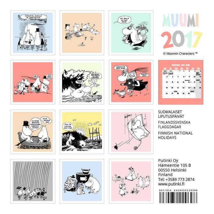 Muumi kalenteri 2017, 20x20cm 10,90€