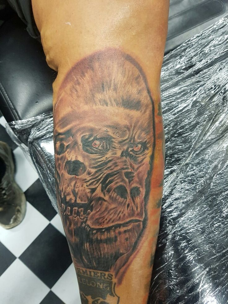 Done by gede swandana tattoo studio skull tattoo