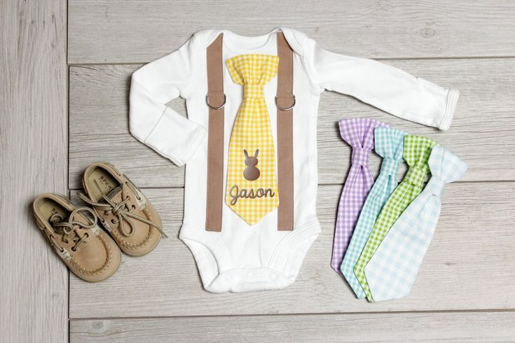 f01f98708 Personalized Bunny Hop Tie in 2019   Baby Boy   Easter Outfits ...
