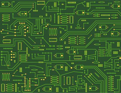 """Electronic circuit board"" 