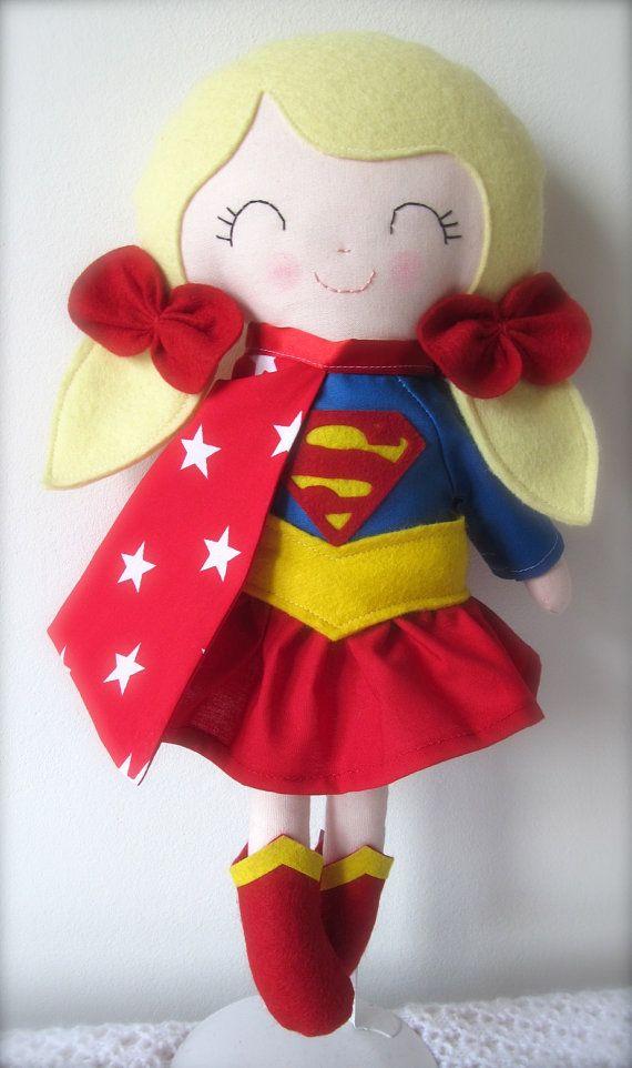 Supergirl Doll, Super Girl Doll Siegel Superhero, Doll, Super Hero Doll, Action Figure Dol... £45