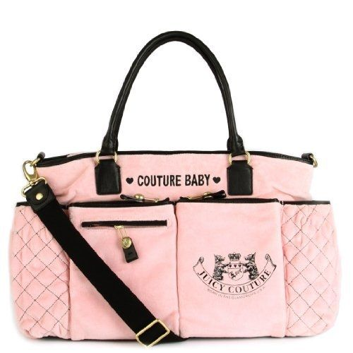 brand name baby diaper bags | Juicy Couture Diaper Baby Bag Pink New Bib Wipe Box Changing Pad ...