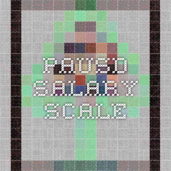 PAUSD Salary Scale
