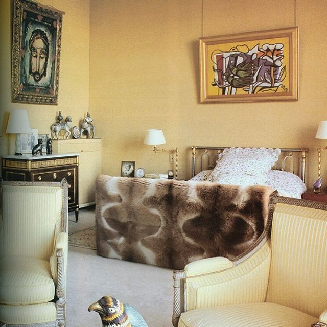 Henri Samuel's cool classicism is on chic display in the bedroom of Jacqueline Delubac.  The actress was Sacha Guitry's third wife and an important art collector with an unerring eye.  #henrisamuel #mynextbook #eerdmansfineart