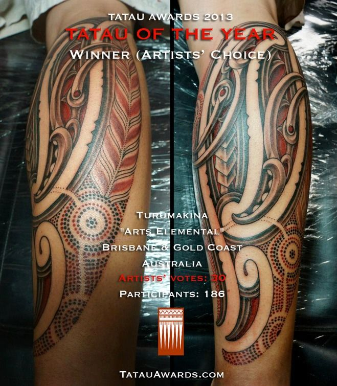 Tatau of the year 2013 - 1st - Turumakina