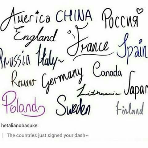 Some of them look too neat and pretty to be honest...I always thought that germany would be harsh angry scrawl..