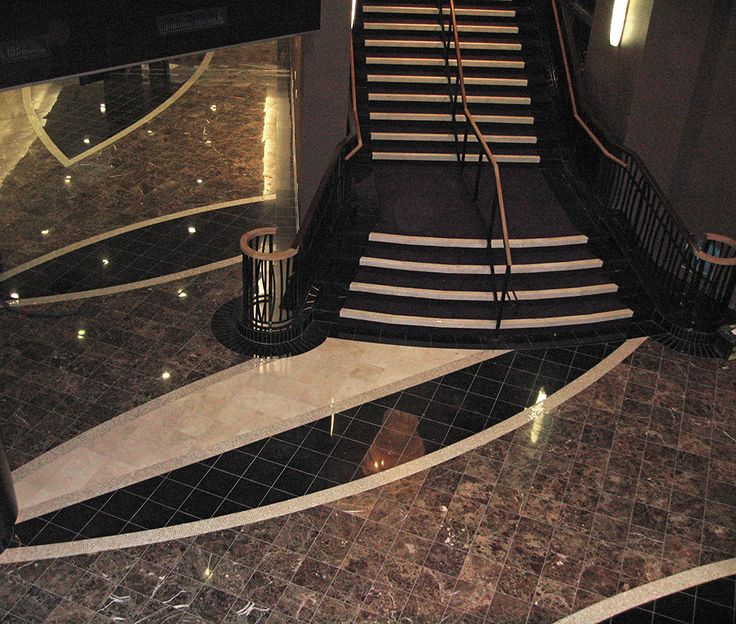 granite tile floor staircase