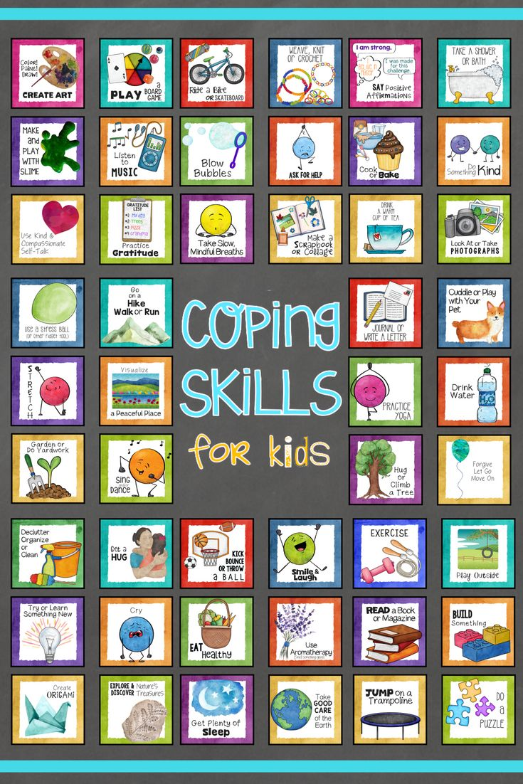 Kids Coping Skills School Counseling Lesson, worksheets, and coping tools for young people poster