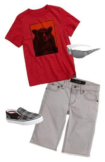 Did Too T-shirt & Joe's Bermuda shorts