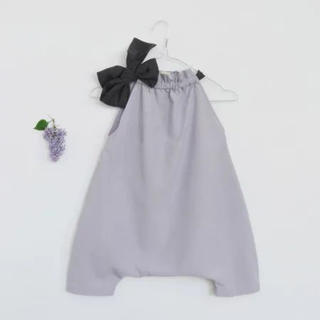 Lilac Jumpsuit with Ribbon