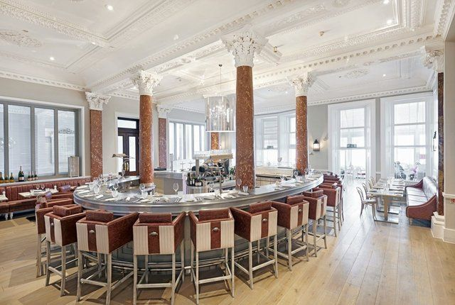 GB1 restaurant is a 2 AA Rosette fish and seafood restaurant at the Grand Hotel Brighton. Champagne and oysters in an iconic luxury setting.