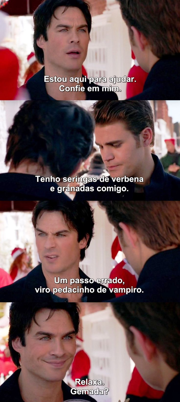 Diários de um vampiro 7x9 - Damon e Stefan
