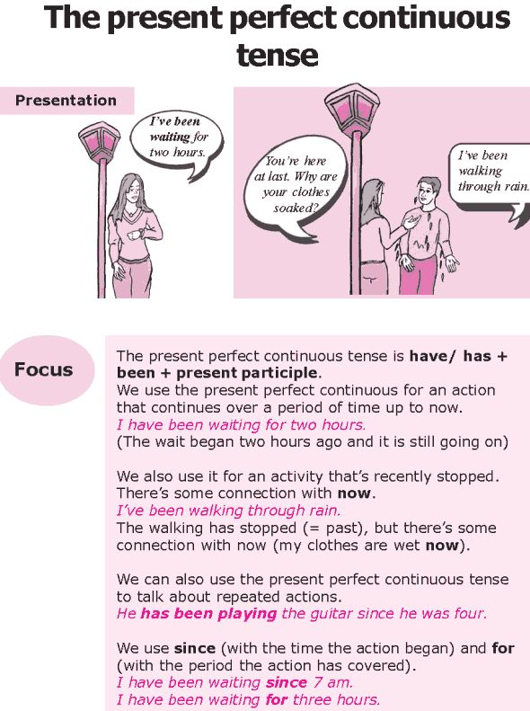 Grade 8 Grammar Lesson 7 The present perfect continuous tense