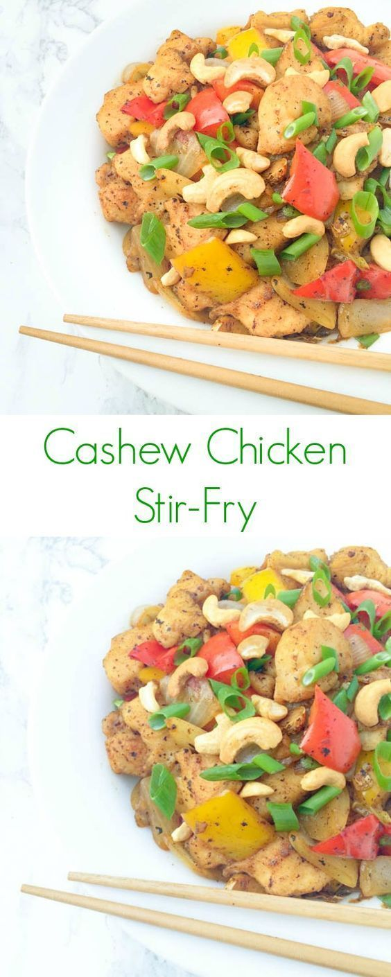 Cashew Chicken Stir-Fry - An EASY asian dish for dinner OR lunch that can never go wrong!