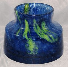 Vase bowl from range Flora, 1973-4, glassworks Prachen