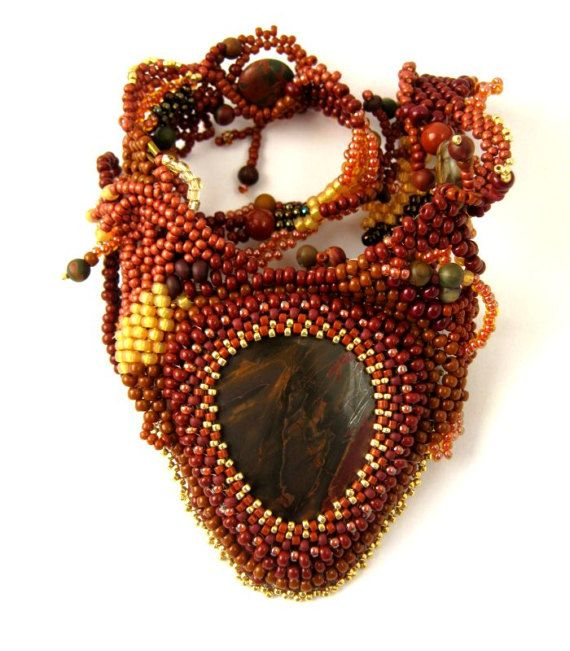 Necklace for women Brown necklace Brown jewelry Gift for by ibics