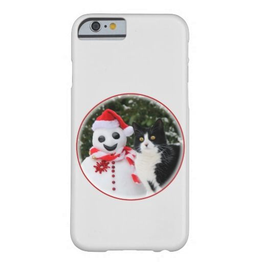 Cat and Santa Snowman Christmas Barely There #iPhone 6 #cute #case photographed by Katho Menden