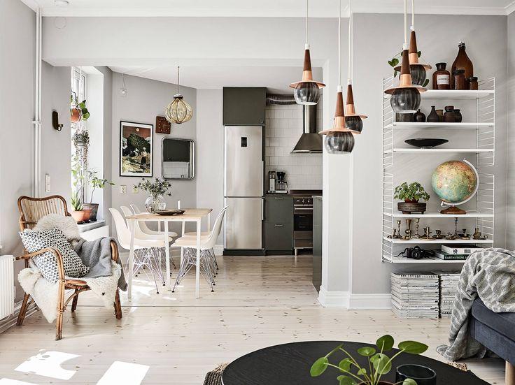 Scandinavian apartment with smeg appliances