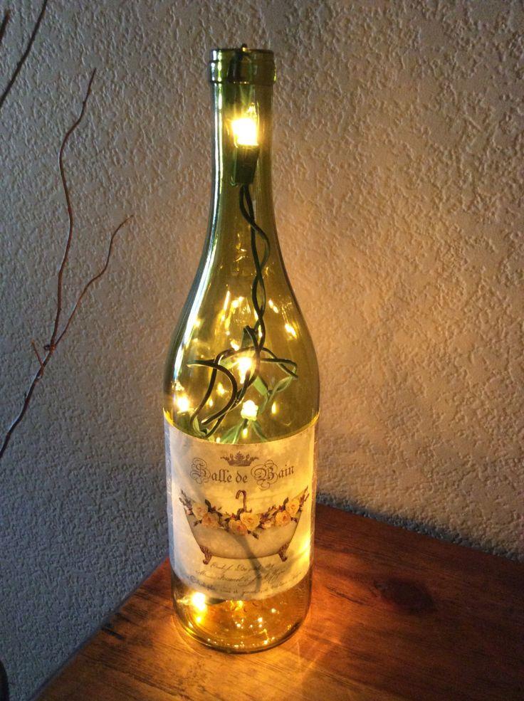 Bathroom Lights Etsy 111 best bottle lights images on pinterest | bottle lights, wine