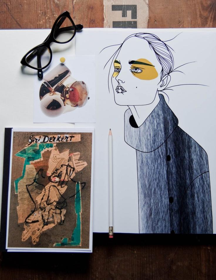 Fashion collage by Liselotte Watkins