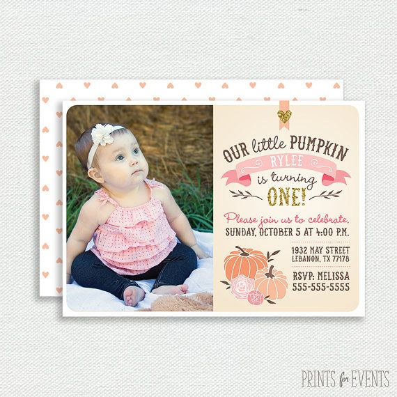 Hey, I found this really awesome Etsy listing at https://www.etsy.com/ca/listing/202464183/our-little-pumpkin-photo-invitation