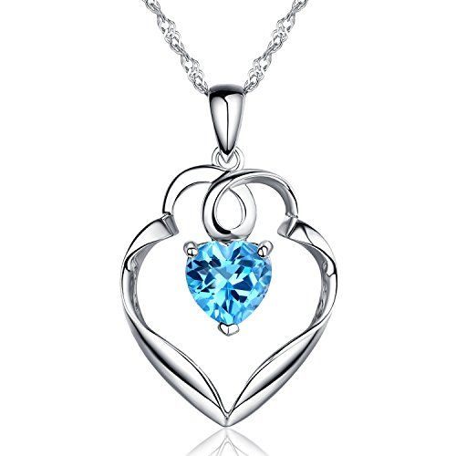Sterling Silver and Guardian Heart Natural Swiss Blue Top... https://makelifeeasier123.blogspot.com/p/jewelry.html