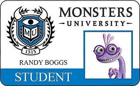 monster university student id | Monsters University Meet the Students ID Card 7