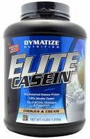 Dymatize Nutrition Elite Casein to białko kazeinowe o długim czasie wchłanialności. Często stosowane na noc, aby dostarczac powoli proteiny do organizmu.