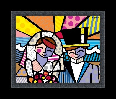 HONEYMOON AT SEA embellished giclée on canvas by Romero Britto (framed) $580
