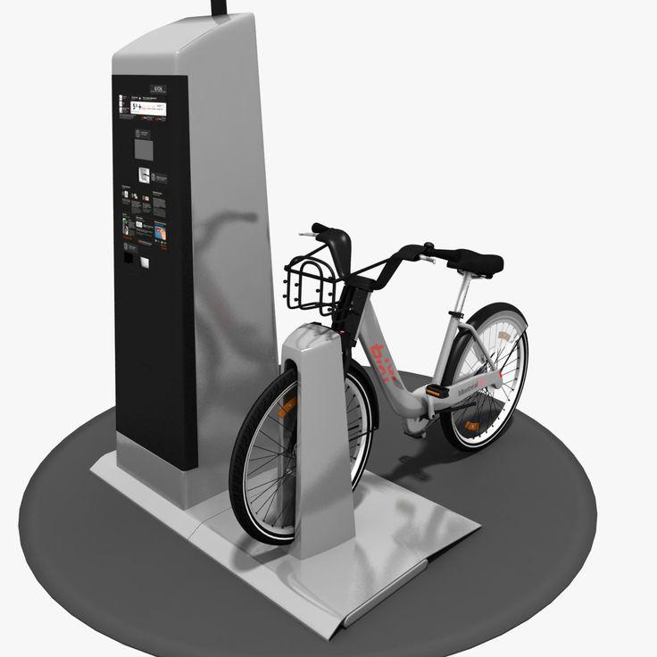 3D MODEL: https://www.turbosquid.com/3d-models/3d-model-bixi-bike/600588?referral=cermaka