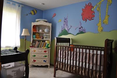 Dr. Seuss Nursery MuralJude Room, Seuss Nurseries, Nurseries Stuff, Things Seuss, Baby Room, Sammy Room, Adorable Dr., Nurseries Ideas, Nurseries Murals