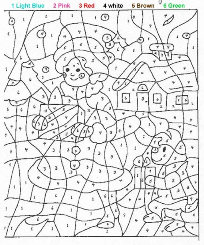 Winter Magic Coloring Book Awesome Kids Activity Paint By Numbers Online Or Print Color By Number Printable Christmas Color By Number Teddy Bear Coloring Pages