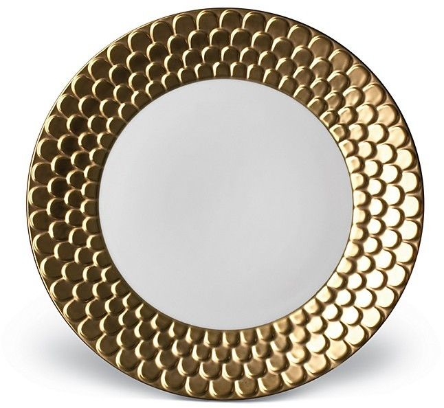 Gold Sculpted Dinner Plate