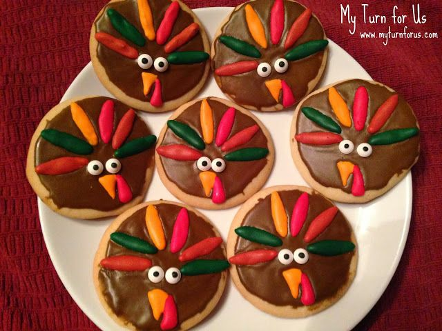 My Turn for us: Thanksgiving Turkey Cookies