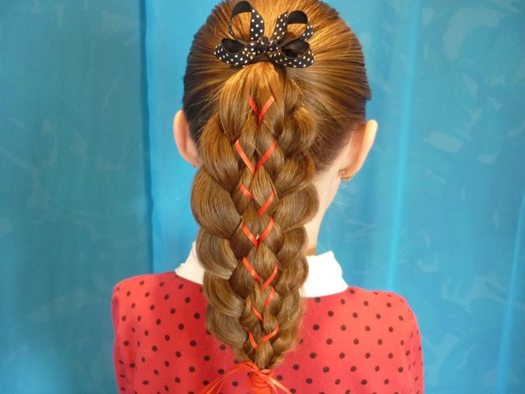 Illusion Braid With Ribbon. I'm going to try this for my little cousins...