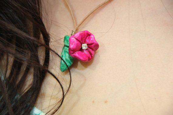 Spring Flower Handmade Necklace vslk.madebyme