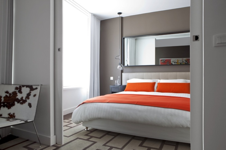 Hipark Residences is a sleek contemporary residential hotel with several locations throughout France. The suites feature several Ligne Roset pieces, among them: Cineline headboards/nightstands, Serpentine suspension lighting.